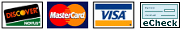 PayClix® accepts Discover, MasterCard, Visa and electronic checks
